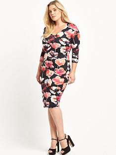 so-fabulous-v-neck-scuba-bodycon-dress-floral-print