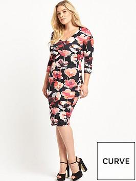 v-by-very-curve-v-neck-scuba-bodycon-dress-floral-print