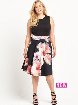 so-fabulous-floral-print-skirt-scuba-prom-dress