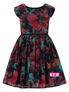 little-misdress-cap-sleeve-printed-dress