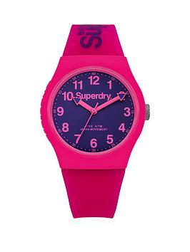 superdry-superdry-urban-purple-dial-pink-silicone-strap-ladies-watch