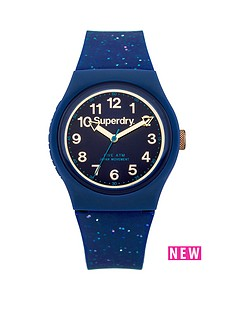 superdry-superdry-urban-glitter-blue-dial-blue-silicone-gold-glitter-strap-ladies-watch