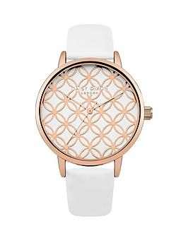 daisy-dixon-penny-white-rose-gold-circle-detail-dial-white-leather-strap-ladies-watch