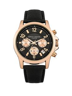 daisy-dixon-adriana-black-rose-gold-detail-multi-dial-black-leathet-strap-ladies-watch