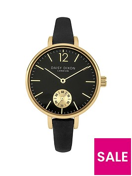daisy-dixon-gracie-black-dial-black-leather-strap-ladies-watch