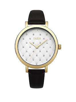 oasis-oasis-white-quilted-dial-black-pu-strap-ladies-watch