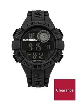 superdry-superdry-radar-black-digital-dial-black-silicone-strap-mens-watch