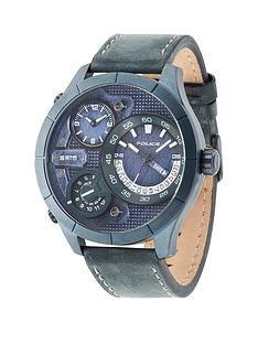 police-police-bushmaster-blue-multi-dial-blue-leather-strap-mens-watch