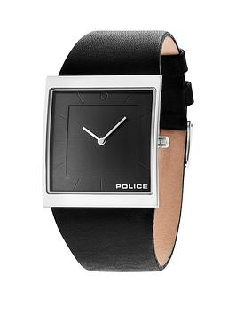 police mens watches gifts jewellery very co uk police police skyline x gun dial black leather strap mens watch