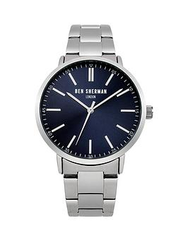 ben-sherman-ben-sherman-navy-sunray-dial-silver-stainless-steel-bracelet-mens-watch