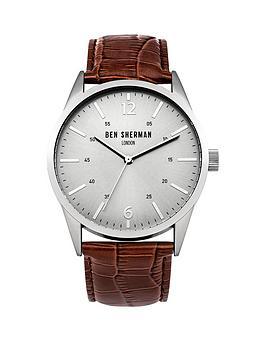 ben-sherman-ben-sherman-silver-sunray-dial-brown-leather-strap-mens-watch