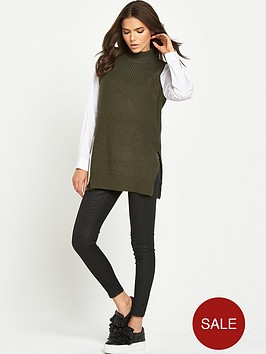 lost-ink-shirt-sleeves-high-neck-jumper