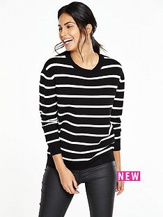 v-by-very-stripe-zip-detail-jumper