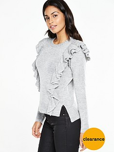 v-by-very-crew-neck-double-layer-ruffle-front-jumpernbsp