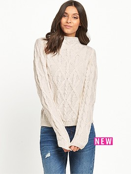 v-by-very-funnel-neck-3d-cable-short-jumper