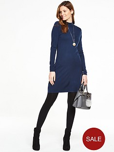 v-by-very-turtle-neck-swing-dress