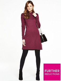 v-by-very-turtle-neck-swing-dress