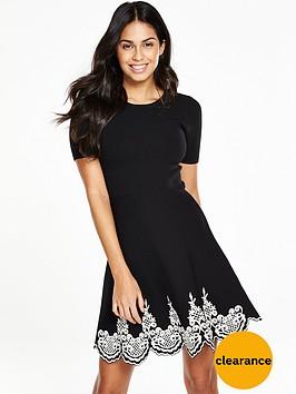 v-by-very-jacquard-hem-knitted-skater-dress