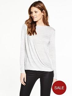 v-by-very-drape-front-twist-yarn-jumper