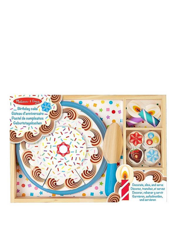 Awe Inspiring Melissa Doug Wooden Birthday Cake Very Co Uk Personalised Birthday Cards Beptaeletsinfo