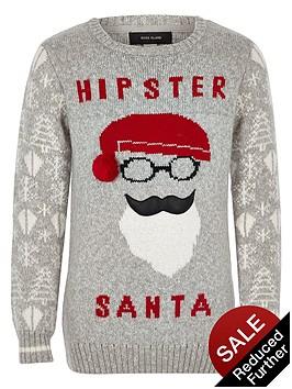 river-island-boys-hipster-santa-christmas-jumper