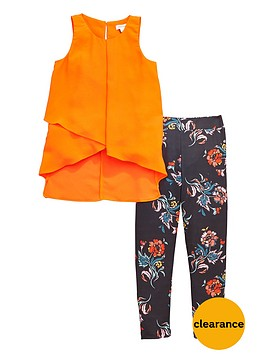 river-island-top-and-floral-leggings-set
