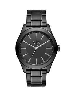 armani-exchange-nico-black-dial-black-stainless-steel-bracelet-mens-watch