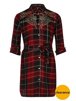river-island-girls-red-check-stud-shirt-dress