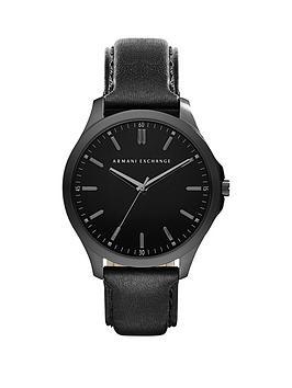 armani-exchange-black-dial-black-leather-strap-mens-watch