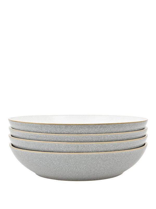 Black Denby Elements 4 Piece Pasta Bowl Set