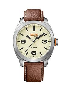 hugo boss mens watches gifts jewellery very co uk hugo boss hugo boss cape town casual cream dial brown leather strap mens watch