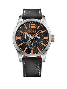 hugo-boss-paris-black-dial-orange-accents-black-strap-mens-watch