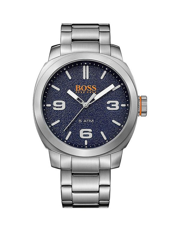 3f9acdb80bd HUGO Cape Town Casual Blue Dial Stainless Steel Bracelet Mens Watch ...