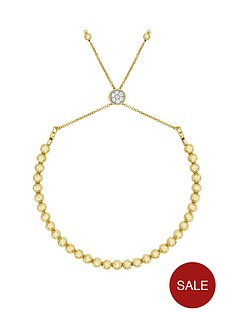 love-silver-sterlingnbspsilver-gold-plated-beaded-friendship-bracelet
