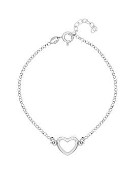 love-silver-sterlingnbspsilver-plated-with-rhodium-open-heart-bracelet