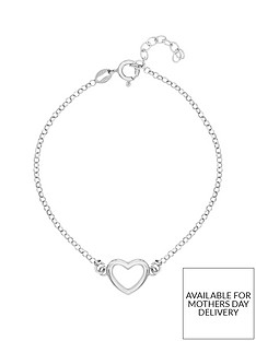 the-love-silver-collection-sterlingnbspsilver-plated-with-rhodium-open-heart-bracelet