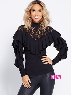 myleene-klass-victoriana-lace-collar-blouse-black