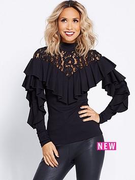 myleene-klass-victoriana-lace-collar-blouse-black