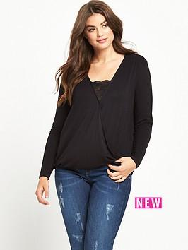 so-fabulous-curve-jersey-wrap-lace-panel-top-black