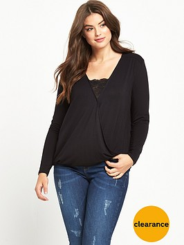 v-by-very-curve-curve-jersey-wrap-lace-panel-top-black