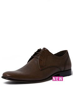 river-island-river-island-embossed-leather-shoe-brown
