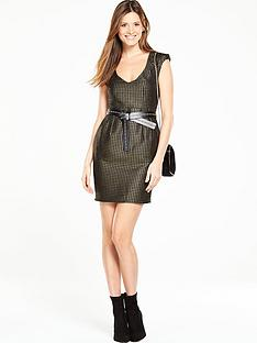 v-by-very-metallic-jacquard-dress