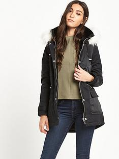 river-island-faux-fur-collar-short-parka