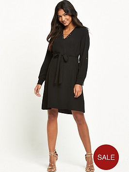 river-island-bar-detail-shirt-dress-with-belted-waistnbsp