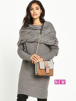 ri-studio-chunky-cable-knit-dress