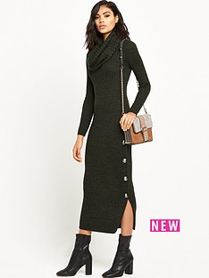 ri-studio-knitted-cowl-neck-maxi-dress