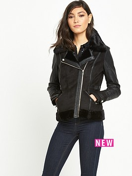 river-island-faux-shearling-bomber-coat