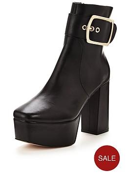 kg-spritz-platform-buckle-ankle-boot