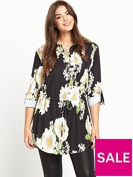 v-by-very-curve-curve-printed-tab-sleeve-shirt-black-base-floral