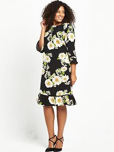 so-fabulous-curve-printed-drop-hem-shift-dress-black-base-floral